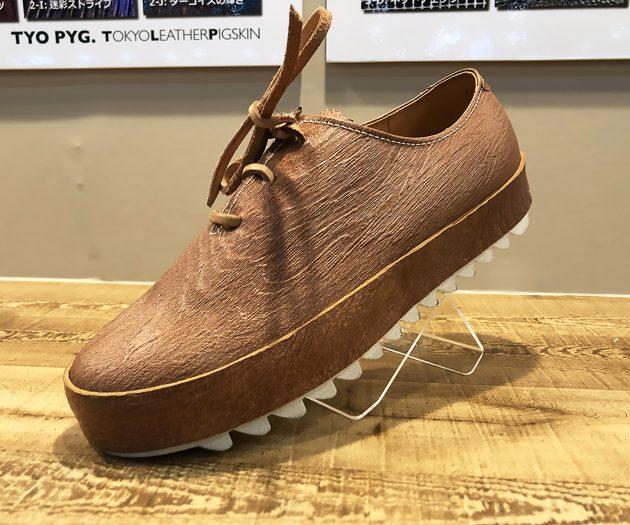 豚革の靴1
